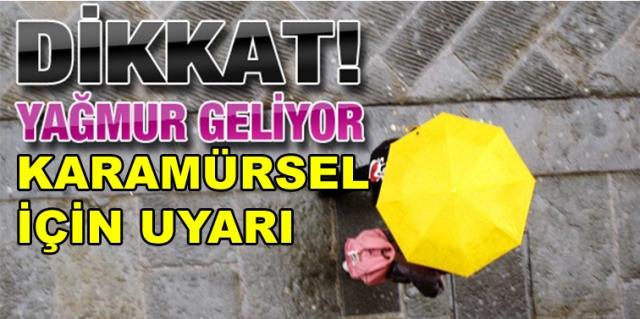 Dikkat Karamürsel'e Yağmur Geliyor
