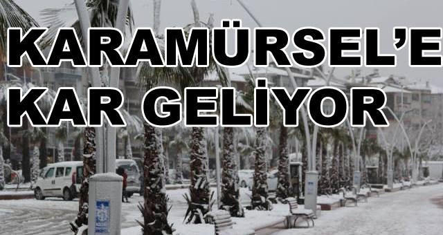 Beklenen Kar Karamürsel'e Geliyor