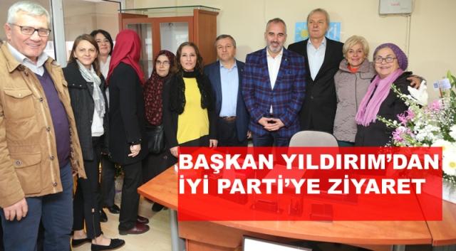 Başkan Yıldırım'dan İYİ Parti'ye Ziyaret
