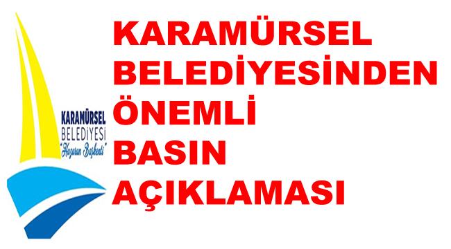 Karamürsel Belediyesi'den Basın Açıklaması