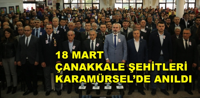 Çanakkale Şehitleri Karamürsel'de Anıldı