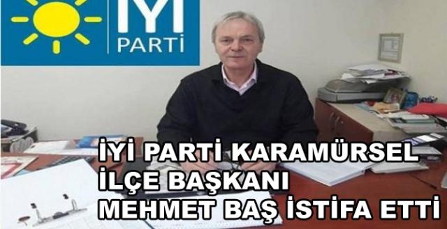 İYİ Parti Karamürsel İlçe Başkanı İstifa Etti