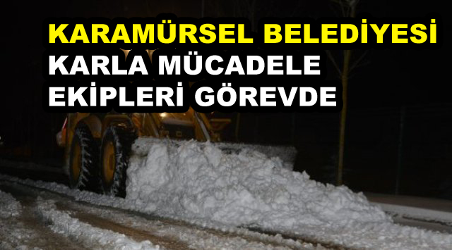 Karamürsel Belediyesi Karla Mücadele Ediyor