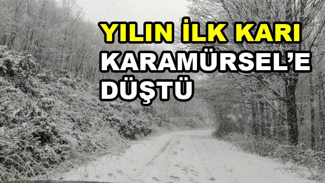 Karamürsel'e İlk Kar Düştü