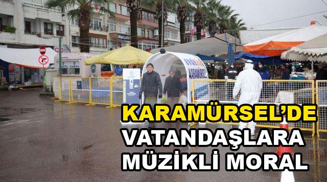 Karamürsel'de Vatandaşlara Müzikli Moral