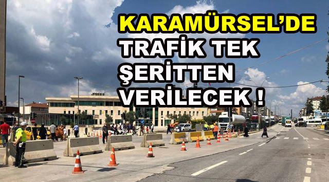 Araç Sürücüleri Dikkat ! Yol Tek Şeritten Verilecek