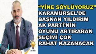 Karamürsel'de Başkan Yıldırım Yine Kazanır