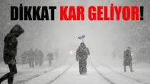 Kocaeli'ye Kar Geliyor !