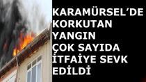 Karamürsel'de Korkutan Yangın