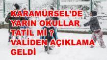 Karamürsel'de Okullar Yarın Tatil mi? Cevap Geldi