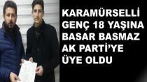 18 Yaşına Bastı Hemen AK Parti'ye Üye Oldu