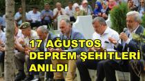 Karamürsel'de Deprem Şehitleri Anıldı