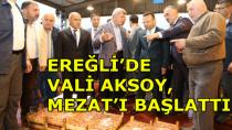 Vali Aksoy, Balık Mezat'ı Başlattı