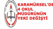 Karamürsel'de 4 Okul Müdürü Değişti