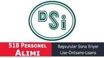 Devlet Su işleri DSİ 518 Memur Personel Alımı Başvuru Son Günü