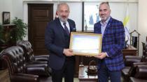 Çiftlikköy Belediye Başkanı Başkan Yıldırım'ı Ziyaret Etti