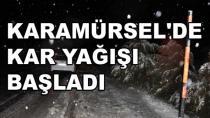 Karamürsel'e İlk Kar Yağdı