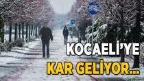 Kocaeli'ye Kar Geliyor
