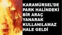 Karamürsel'de 1 Araç Yandı