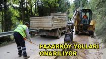 Pazaköy'ün Yolları Onarılıyor