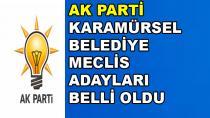 AK Parti Karamürsel Belediye Meclis Üyesi Adayları