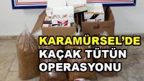 Karamürsel'de Kaçak Tütün Operasyonu
